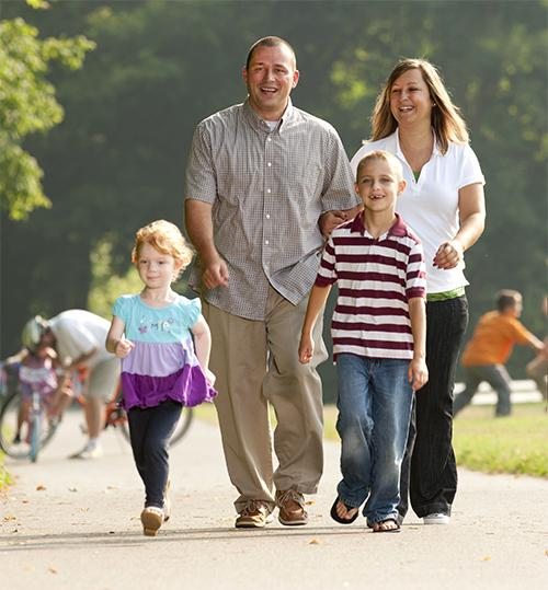 Family on Greenway