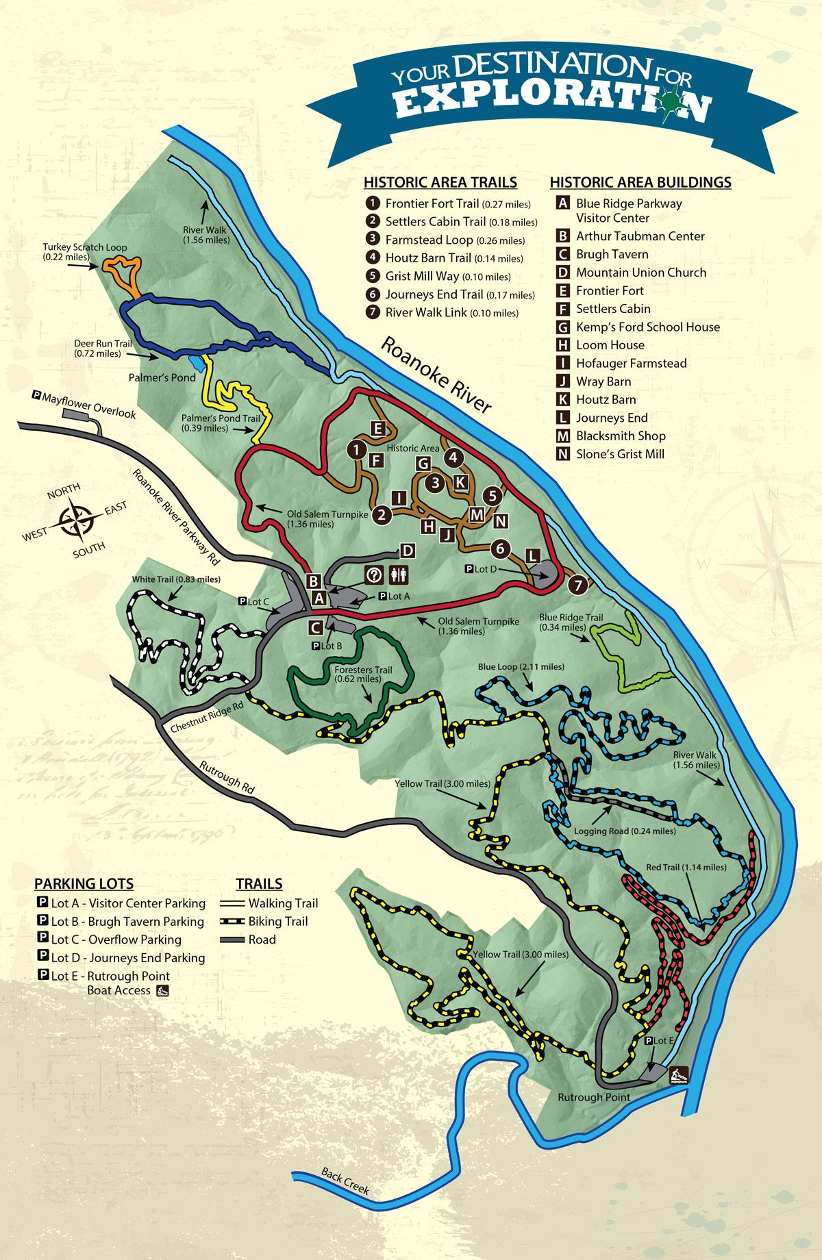 Hiking Biking Roanoke County Parks Rec Tourism Va