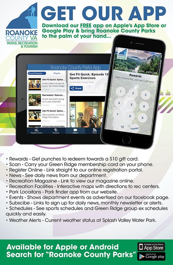 Rewards and Discounts | Roanoke County Parks Rec & Tourism, VA