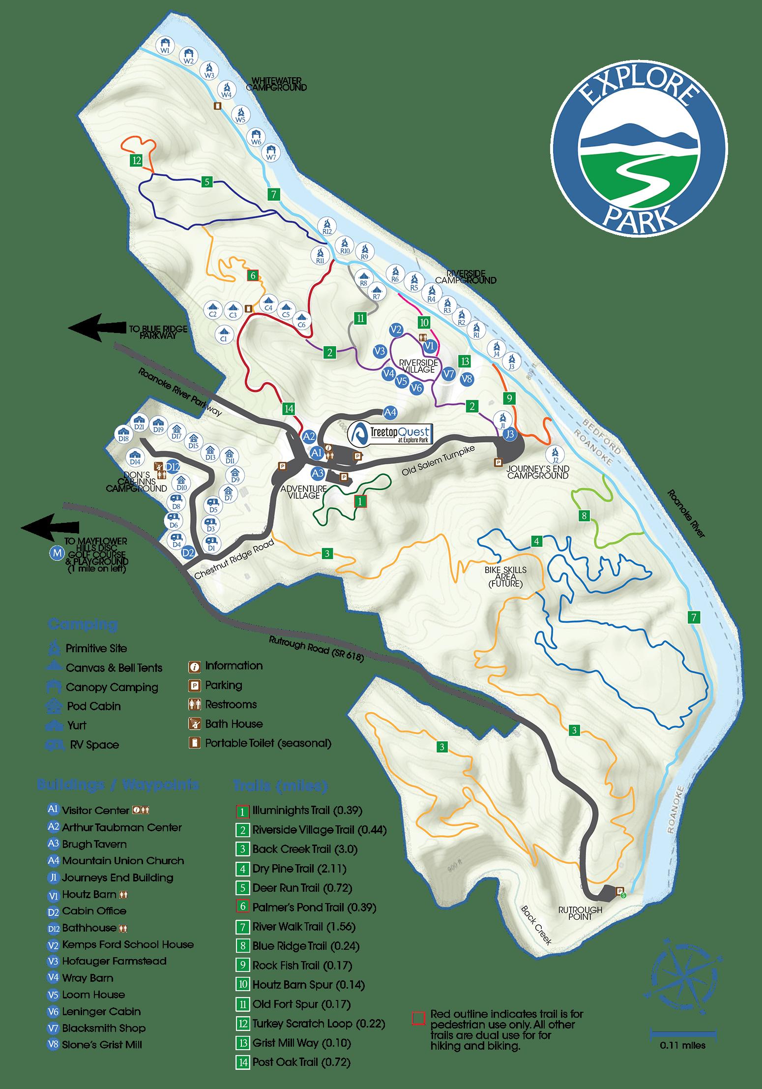 Explore Park Map